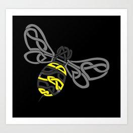 Bumble Bee Knot Art Print