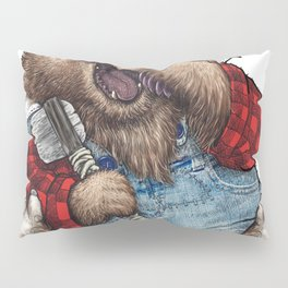 Sleepy LumberJack Bear Pillow Sham