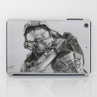 master chief iPad Cases featuring Master Chief/ Halo 5  by JMH Art