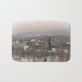 Snowy Bled In Slovenia Bath Mat