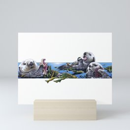 Otters Mini Art Print