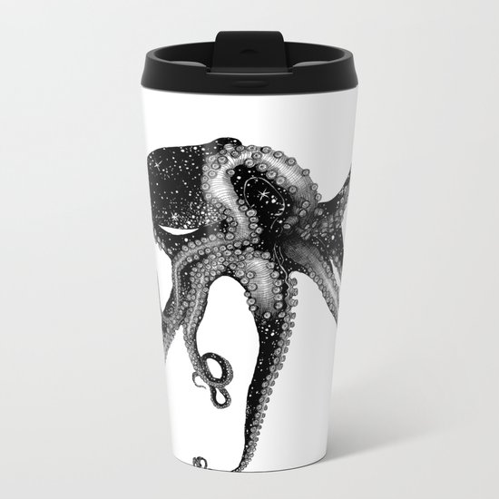 Cosmic Octopus Metal Travel Mug