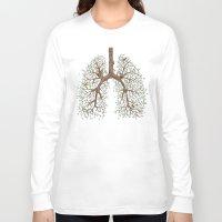 breathe Long Sleeve T-shirts featuring Breathe! by Marcelo Jiménez