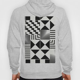 Mosaic Black And White Pattern Hoody