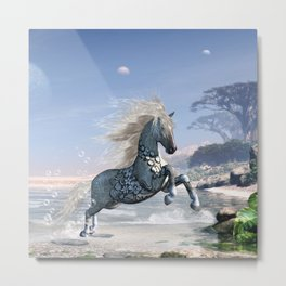 Wonderful wild fantasy horse Metal Print