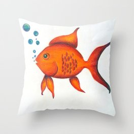 Cleo the Guppy Throw Pillow