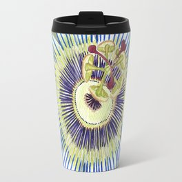 Passionflower Watercolor Travel Mug