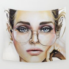 Face for NYC Wall Tapestry
