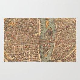 Vintage Map of Paris (1575) Rug