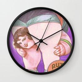Ruth The Acrobat Circus Poster Wall Clock