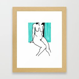 On Boob, Maybe Two Framed Art Print