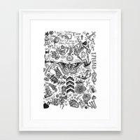 tattoos Framed Art Prints featuring OT5 Tattoos by tash