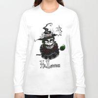 oz Long Sleeve T-shirts featuring Oz - Green by artlandofme