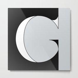 G Serif Metal Print