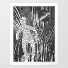 Media Landscape Walkers 1 Art Print