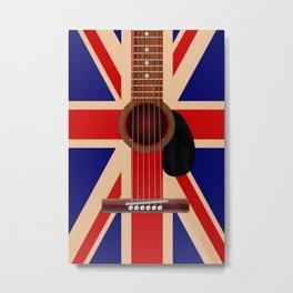 Union Jack Guitar Metal Print