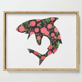 Floral Shark Serving Tray