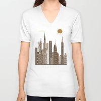 atlanta V-neck T-shirts featuring Atlanta city vintage by bri.buckley