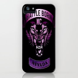 Battle Born MC- Purple Wolf Logo iPhone Case