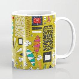 tiki yellow Coffee Mug