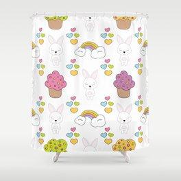 Cute rabbits Shower Curtain