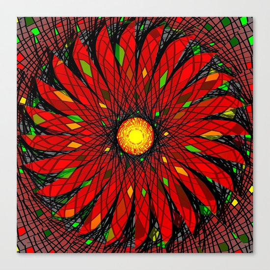 Flower In Motion Canvas Print