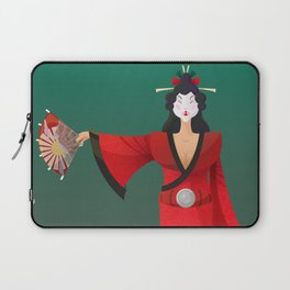 Vector Geisha (Turning Japanese) Laptop Sleeve