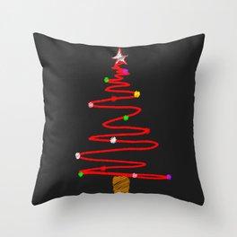 Blackboard Tree Throw Pillow