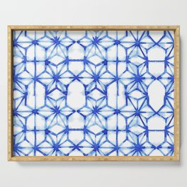 Abstract geometric star Serving Tray
