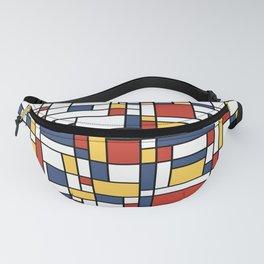 Mondrian De Stijl Pattern Fanny Pack
