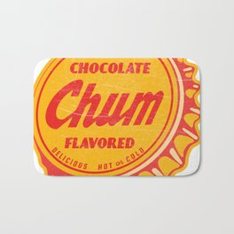 Vintage Chocolate Chum Soda Pop Bottle Cap Bath Mat