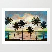 Palm Tress 10a Art Print