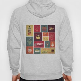 Vintage Food Collage Old Style Hoody