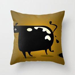 COW MANURE Throw Pillow