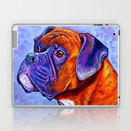 Colorful Brindle Boxer Dog Laptop & iPad Skin