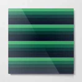 forest Green stripes Metal Print