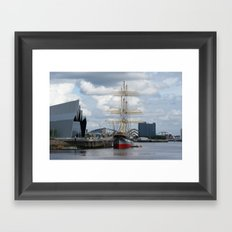 Glasgow Clyde Skyline  Framed Art Print