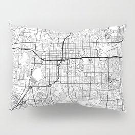 Orlando Map White Pillow Sham