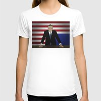 house of cards T-shirts featuring House Of Cards - Frank Underwood by Tom Storrer