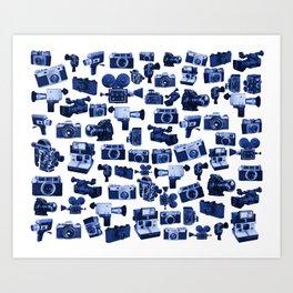 Cameras & Blue Art Print