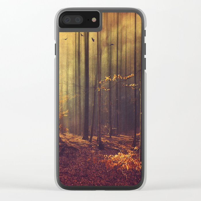Light Hunters - Abstract orest in Sunlight Clear iPhone Case