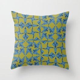 Wavy Ribbon Texture Wings Throw Pillow