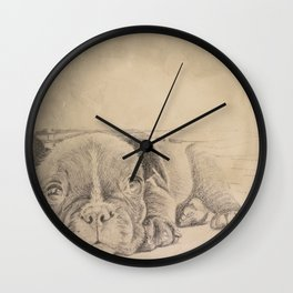 sweet puppy Wall Clock