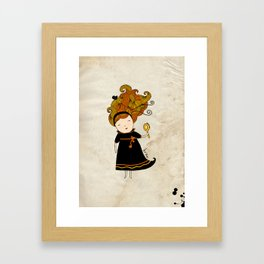 Virgo Girl Framed Art Print
