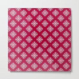 White Snowflakes Metal Print