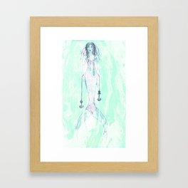 Mermaid (Foam) Framed Art Print