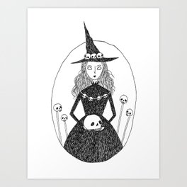 Death Witch Art Print
