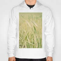 grass Hoodies featuring Grass by Yolanda Méndez