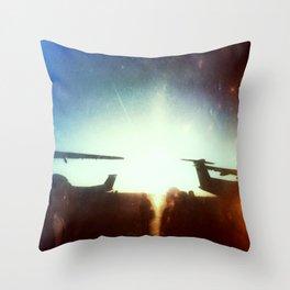 Sea-Tac At Sunset Throw Pillow