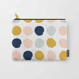 Dot minimal trendy color palette gold silver metallic minimal home decor Carry-All Pouch